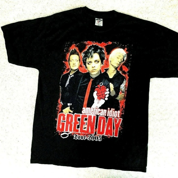 Vintage Other - Green Day Tour T Shirt Large American Idiot